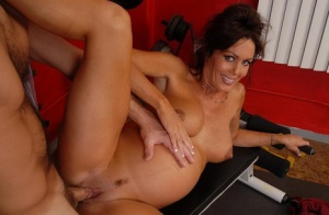 Pregnant mom Nancy has big swollen tits suckled before giving bj