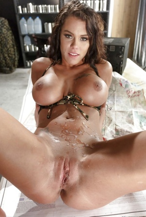 Top heavy model Peta Jensen taking a rather large cock in tight asshole 44099305