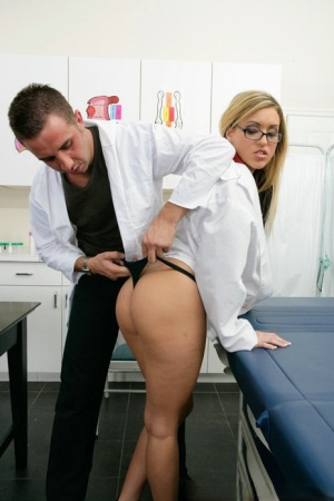 Sexy babe in uniform Memphis Monroe feels a monster cock in her cunt