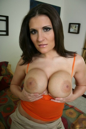Big titted MILF Austin Kincaid strips to panties and fondles her melons 80616968