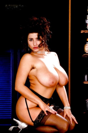 Older European solo girl Chloe Vevrier baring hairy underarms and hooters