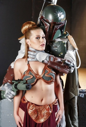 Cosplay enthusiast Abby Cross giving large cock a blowjob and handjob 76368075