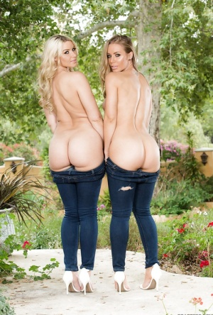 Dyke pornstars Nicole Aniston and Anikka Albrite free nice butts from jeans 52088435