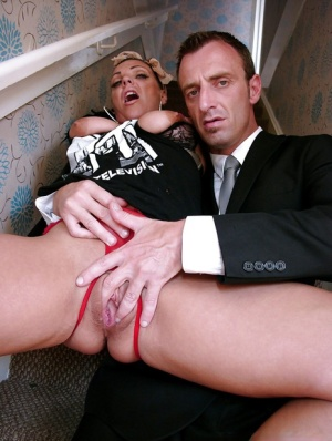 Busty Euro first timer Layla Lixx deepthroating cock during hardcore sex
