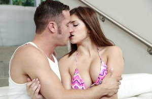 Young pornstar Leah Gotti offering tight ass for doggy style fucking
