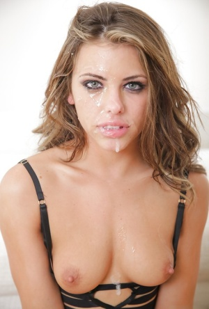 Small boobed pornstar Adriana Chechik getting chipmunked by big cock during BJ