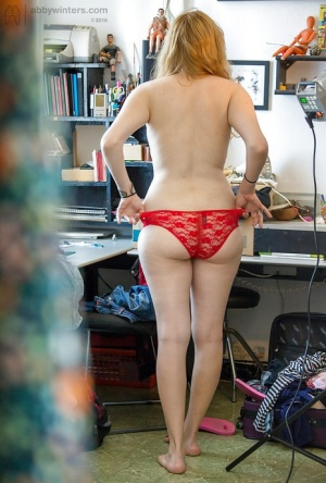 Amateur blonde in hot lingerie Layla K complete nudity solo 54176294
