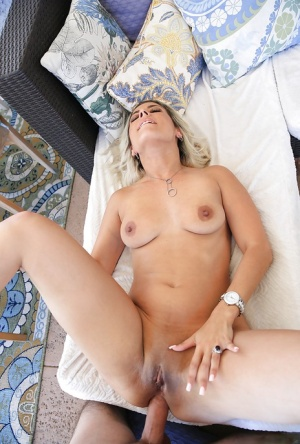 Dirty blonde chick Alana Luv getting butt fucked by long penis
