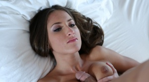 Teen sisters Lizz Tayler  Kendall Karson do a threesome with stepbrother