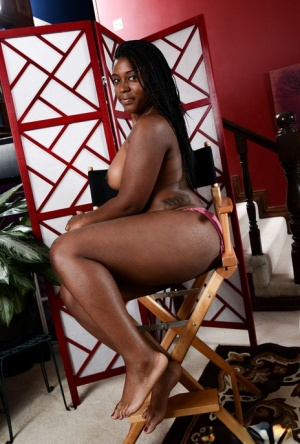 African first timer Janelle Taylor parts her butt cheeks and labia lips