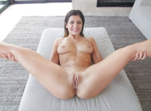 Teen pornstar Leah Gotti getting drilled by long cock before taking money shot