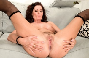 Mature lady Magdalene St Michaels fucks her younger lover for cum filled cunt