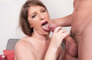 Older lady Kandi Jones sucks her boarders dick after he cant pay the rent 81625133
