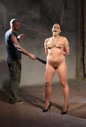 Hot BDSM nude porn with obedient female in heats Clair Brooks