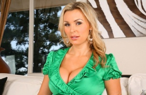 Hot MILF in lacy stockings Tanya Tate showing her big tits and ass