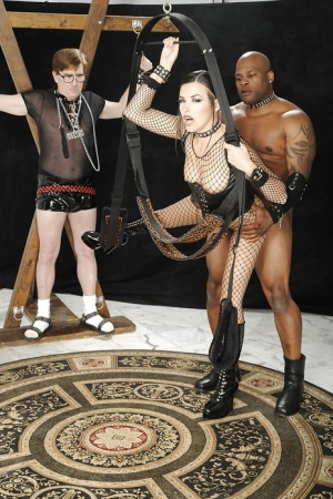 Gorgeous babe Danica Dillon gets BDSM fucked in interracial sex