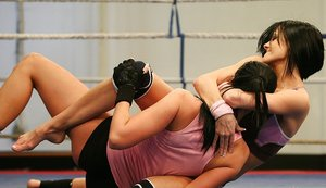 Smoking hot brunette sporty babes pleasuring each other after wrestling 40370943