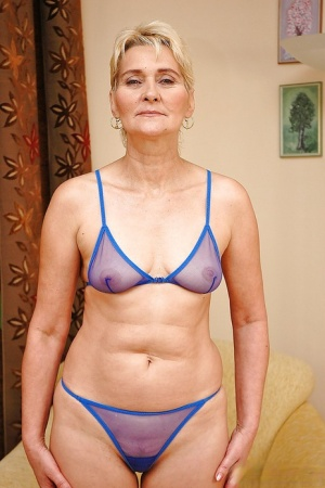 Sexy granny Bibi Taylor taking off her sheer lingerie and exposing her cunt 29835655