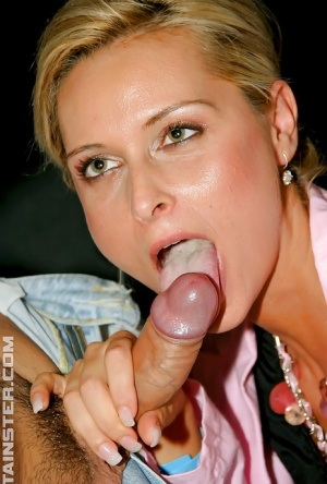 Cum hungry european gals showing off their cock sucking skills