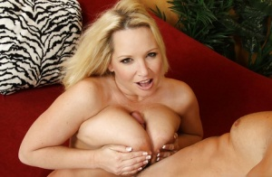 Slutty MILF with huge jugs Rachel Love gives a titjob and gets cocked-up