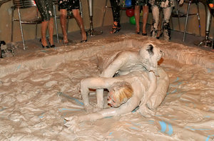 Salacious european gals are into messy mud wrestling action 74623680