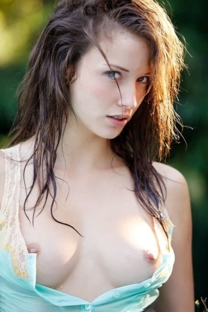 Malena Morgan showcasing her petite tits with hard nipples outdoor 67060905