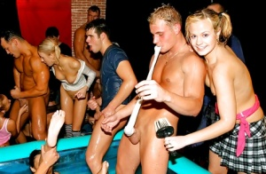 Jizz-starving european MILFs have some hardcore fun at the wet groupsex party