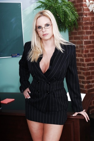 Curvy teacher Cameron Keys gets rid of her dress clothes and lacy lingerie